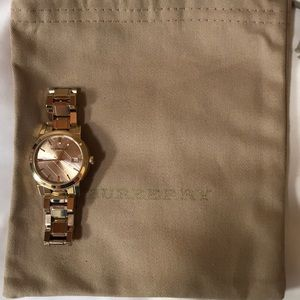 BURBERRY Gold-tone Swiss Made Watch BU9134